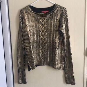 Gold/Black Sweater